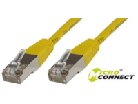 MicroConnect F/UTP CAT6 0.5m Yellow LSZH Outer Shield : Foil screening STP6005Y - eet01