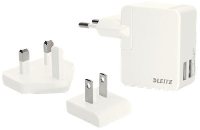 Leitz Traveller USB Wall Dual Charger 12W White 65200001 - eet01