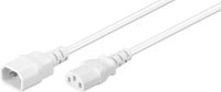 MicroConnect Power Cord C13 - C14 1m White Extension Cable,10A/250V PE040610W - eet01