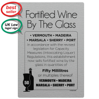50ml Fortified Wine By The Glass - Weights & Measures Act