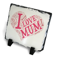 I Love Mum Mothers Day Gift Slate with stand