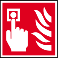 ASEC Fire Alarm Call Point Sign 100mm x 100mm
