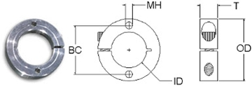 Aluminum Clamping Mounting Ring Manufacturers