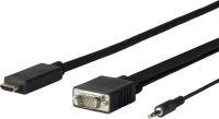 Vivolink Pro HDMI to VGA + Audio 1M PC resolution 1920*1080P PROHDMIVGA1 - eet01