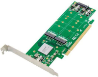 MicroConnect PCIe x16 to X4X4 M.2 NVMe SSD Adapter, Chipset : ASM2824 MC-PCIE-ASM2824-X4 - eet01