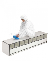 Trespa Toplab Base Step Over Bench - Open 50% - 1200mm