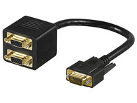 MicroConnect SVGA Male to 2 x SVGA Female BLACK 0,20m MONG2F1M - eet01