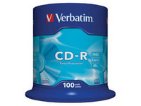 Verbatim CD-R 52X Extra Protect. 700MB 100 Pack 43411 - eet01