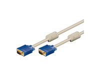 MicroConnect SVGA HD15 5m M-M Beige DoubleShielded 1900x1200 MONGG5W - eet01