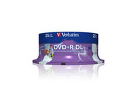 Verbatim DVD+R Double Layer 8X 8.5GB Wide printable ,25 Pack 43667 - eet01