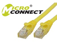 MicroConnect U/UTP CAT6 0.5M Yellow LSZH Unshielded Network Cable, UTP6005YBOOTED - eet01
