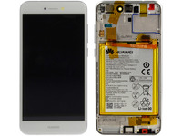 Huawei LCD With Touch Glass, Frame and Battery, White 02351DLU - eet01