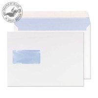 5504 Blake Purely Everyday White Window Peel & Seal Wallet 176X250mm 90Gm2 Pack 500 Code 5504 3P- 5504