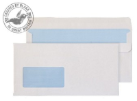 16884 Blake Purely Everyday White Window Self Seal Wallet 121X235mm 90Gm2 Pack 1000 Code 16884 3P- 16884