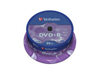 Verbatim DVD+R  16X 4.7GB Branded Matt Silver,25 Pack 43500 - eet01