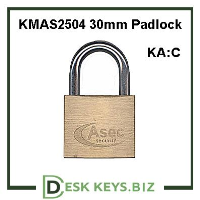 KMAS2504 30mm Locker Padlock (Keyed Alike)