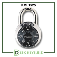Master Lock Combination Padlock compatible with override key