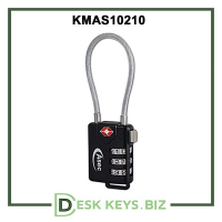 Abus 3 wheel combination TSA cable lock