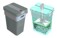 Durable Plastic Waste Compacting Bins