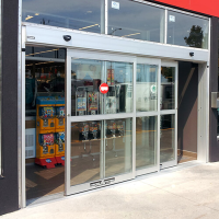 Dual Automatic Sliding Door Systems