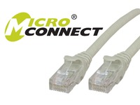 MicroConnect U/UTP CAT6 10M Grey Snagless Unshielded Network Cable, UTP610BOOTED - eet01