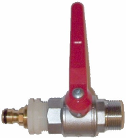"""1"""" Lever Ball Valve with Brass Nipple"""