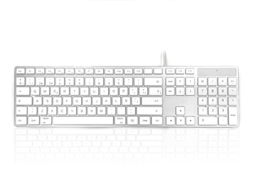 Mac Multimedia Keyboard with White Square Tactile Keys and Silver Case - SPANISH Keyboard Layout