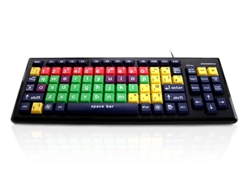 High Contrast Vision Impairment Keyboard with Extra Large Keys