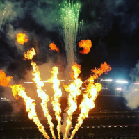 Pyrotechnics For New Year