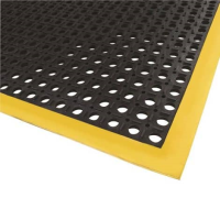 Anti-Slip Yellow Edge Rubber Matting