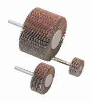 Abrasive Cloth Flap Wheels on a Spindle