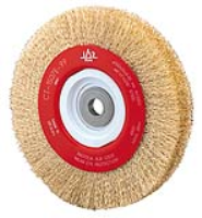 Bench Mounted Wire Brush Wheels- Brass Coated Steel