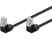 MicroConnect FTP CAT5E 0.25M Black 90 angled FTP50025BAA - eet01