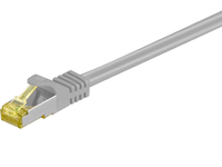 MicroConnect RJ45 patch cord S/FTP (PiMF), W. CAT 7 raw cable 10m Grey SFTP710 - eet01