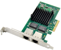 MicroConnect 2 port RJ45 network card, PCIe Chipset : Intel I350 MC-PCIE-I350-T2 - eet01