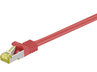 MicroConnect RJ45 patch cord S/FTP (PiMF), W. CAT 7 raw cable 0.25m Red SFTP70025R - eet01