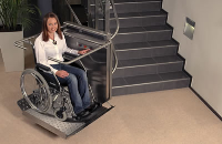 Stainless Steel Wheelchair Stair Lift For Local Office Buildings