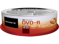 Sony DVD-R 4.7GB 25-SPINDLE 16X 25DMR47SP - eet01