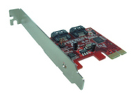 Lycom SATA 6Gbps 2Ports int ,LP Low Profile PCIe 2.0 Host PE-115 - eet01