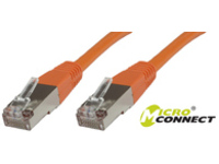 MicroConnect F/UTP CAT6 10m Orange LSZH Outer Shield : Foil screening STP610O - eet01
