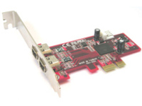 Lycom PCI-Express 1394a 2P, LP 1 x PCI-Express Host PE-101 - eet01