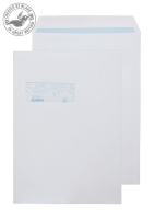 RD7892 Blake Purely Environmental White Window Self Seal Pocket 324X229mm 100Gm2 Pack 250 Code Rd7892 3P- RD7892