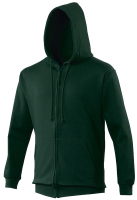 Bespoke Promotional Fruit Of The Loom Childrens Green Zipped Hooded Sweatshirts For Chess