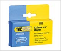 Tacwise 53 Light Duty Staples 8mm Type JT21