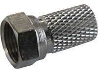 Maximum F-Connector for 6.6 mm Cable Twist-on type N46/RG6, 100 PCS 1931 - eet01