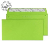 25207 Blake Creative Colour Lime Green Peel & Seal Wallet 114X229mm 120Gm2 Pack 25 Code 25207 3P- 25207
