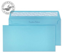 25218 Blake Creative Colour Cotton Blue Peel & Seal Wallet 114X229mm 120Gm2 Pack 25 Code 25218 3P- 25218