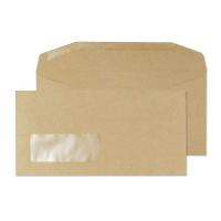 13810 Blake Purely Everyday Manilla Window Gummed Mailer 110X220mm 80Gm2 Pack 1000 Code 13810 3P- 13810
