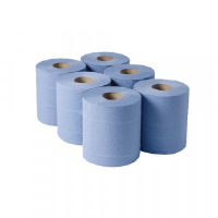 1-Ply Blue Centrefeed Rolls 290mx180mm (Pack of 6) CBL290S