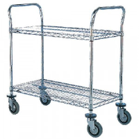 2 Tier Chrome Trolley 457x914mm 329015